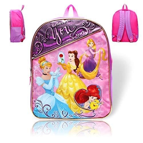Disney Kids School Backpacks (Disney Princess Glitter Backpack)