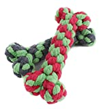 Kim88 1Pc 15cm Pet Toys Supplies Cotton Rope Chew Knot Dog Bone Durable Braided Rope