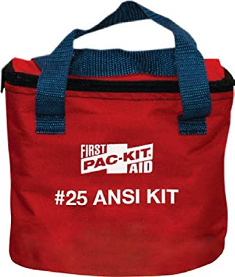 Pac-Kit 7082 91 Piece 25 Person ANSI Compliant First Aid Kit in Fabric Pouch by Pac-Kit