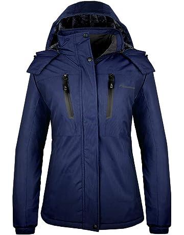 4c661cd5c3 OutdoorMaster Women s Ski Jacket Basic - Winter Jacket with Elastic Powder  Skirt   Removable Hood