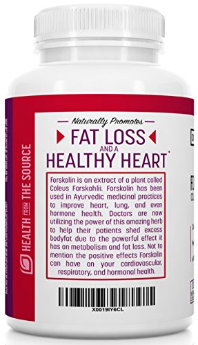 Origin Labs 100% Pure Forskolin Extract for Weight Loss. 120 Veg. Capsules 500mg per serving. Coleus Forskohlii 20% Forskolin. Fat Burner, Weight Loss Supplement for Men & Women