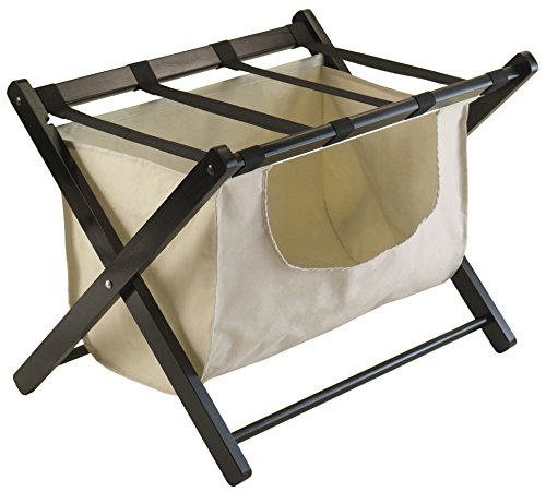 Winsome Dora Luggage Rack with Removable Fabric Basket