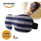 Wellcare 3D Sleep Mask, Eye Mask for Sleeping, Blackout Blindfold Smooth Soft Strap, Lightweight Night Sleep Mask for Women, Men & Kids, Comfortable for Naps, Travel, Meditation, Puffy Eyes (Grey)