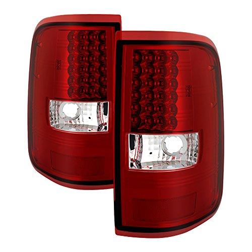 VIPMOTOZ Red Lens LED Tail Light Lamp Assembly For 2004-2008 Ford F-150 Pickup Truck, Driver & Passenger Side