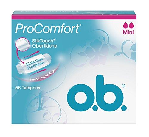 o.b. Tampon Pro Comfort mini 56er, 1er Pack (1 x 56 Stück)