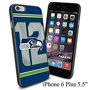 NFL 12 Seattle Seahawks , Cool iphone 6 Smartphone Case Cover Collector iphone TPU Rubber Case Black