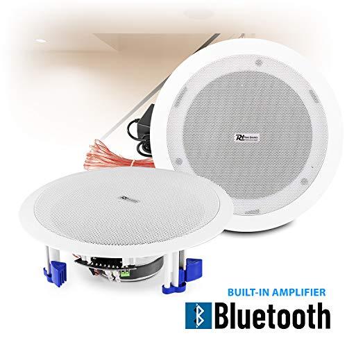Power Dynamics Wireless Streaming Bluetooth Ceiling Mount Speakers Built-In Amplifier 6.5″ 40w