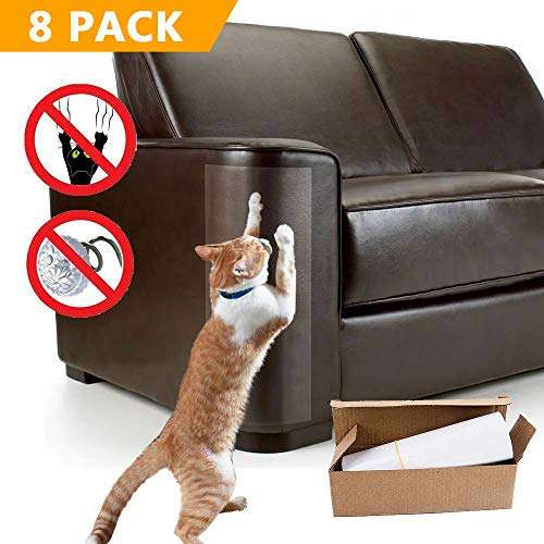 imoocare 8 PcsCat Furniture Protector Cover Anti Cat Scratching Claws & Dog Peeing - Toughest Scratch Guards for Door Chair SofaMattress and Wall
