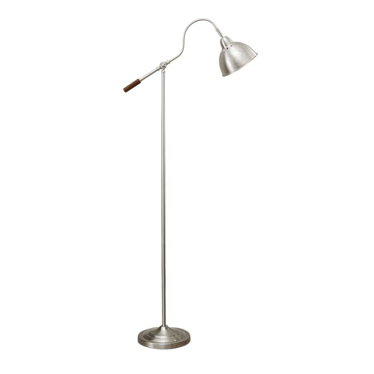 Better Homes and Gardens 60 Inch  Modern Floor Lamp With Adjustable Arm, Silver