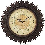 KITCHINDRA Home Paradise Steven Quartz Rdx Sns Creations Round Wall Clock (Brown)