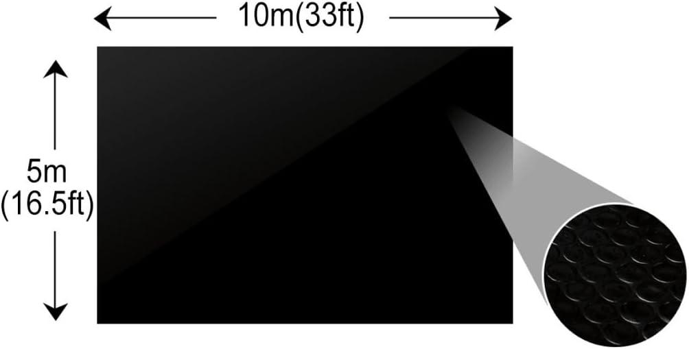 vidaXL Película Negra Rectangular de Polietileno Flotante de ...