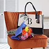 Monogram Tote Bag with 100% Cotton Canvas and a