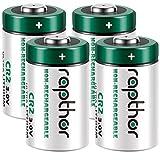 Rapthor 4 Pack 3V CR2 Lithium Battery 850mAh