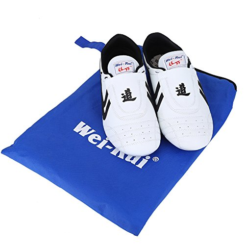 Taekwondo Shoes,Martial Arts Sneaker Sport Boxing Karate Kung fu Taichi ShoesLightweight Shoes for Kids Women Men Adult with Blue Storage Bag(41 Size Suitable 250mm Foot Length) (Best Martial Arts Shoes)