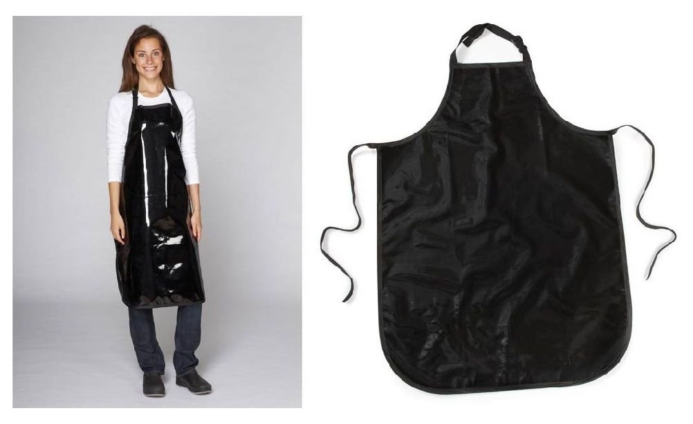 Black Value Grooming Apron Bulk Pack Lot Vinyl Water Stain Resistant Fits Most