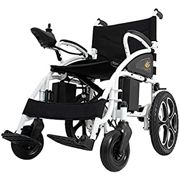 2019 Electric Wheelchairs Silla de Ruedas Electrica para Adultos FDA Approved Transport Friendly Lightweight Folding Electric Wheelchair for Adults (Black)