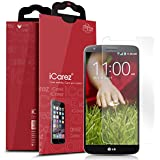 iCarez LG G2 [HD Clear] Premium Screen Protector [ Unique Hinge Install Method With Kits ] 3-Pack with Lifetime Replacement Warranty