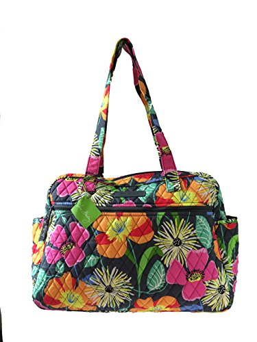 vera bradley 14535 138 vera bradley baby bag diaper bag jazzy blooms with orange interiors. Black Bedroom Furniture Sets. Home Design Ideas