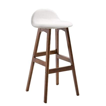 Amazon.com: Bar Stool High Stool Wooden High Chair Bar Stool ...