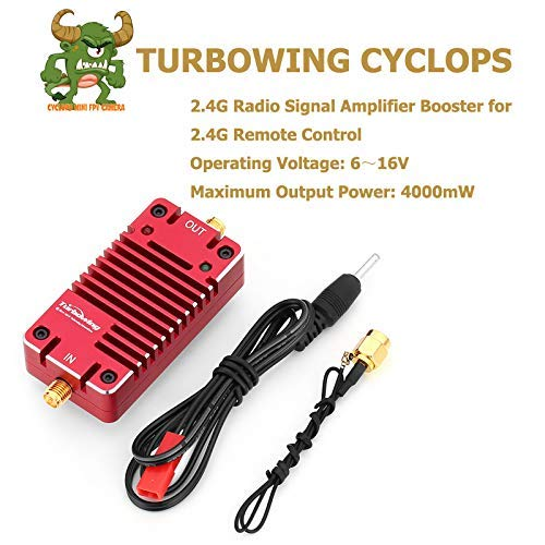 (Turbowing RY-2.4 2.4G Radio Signal Amplifier Booster for RC Drone 2.4G Remote Control Transmitter Longer Flying Distance Range Extender Enhancer for DJI Phantom Transmitter)