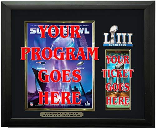 Sports Case Kings Super Bowl LIII Program & Ticket Holder Frame, Black Frame - Super Bowl 53
