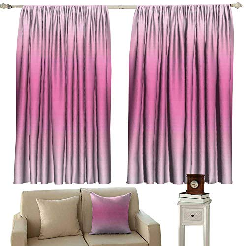 Warm Curtain Ombre Fairytale Cotton Candy Inspired Girly Design Room Decorations Digital Modern Art Print Pink Thermal Insulated Tie Up Curtain W120 xL72