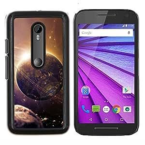 EJOOY---Cubierta de la caja de protección para la piel dura ** Motorola MOTO G3 / Moto G (3nd Generation) ** --Espacio Planet Galaxy Estrellas 27