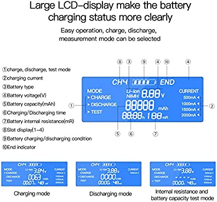 Amazon.com: 18650 Smart Battery Charger Universal ...