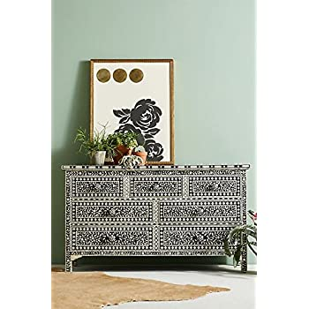 Bone Inlay Seven-Drawer Dresser