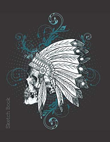 Sketch Book: Skull Head Dress Blank Unlined Notebook for Drawing Doodling or Sketching Sketchbook Journal