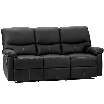 Amazon.com: PU Leather Sofa Recliner Couch Recliner Sofa Manual ...