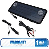 MASO Solar Panel Trickle Battery Charger, 4.5W 12V Car Battery Trickle Charger Boat Yacht Outdoor Power Supply