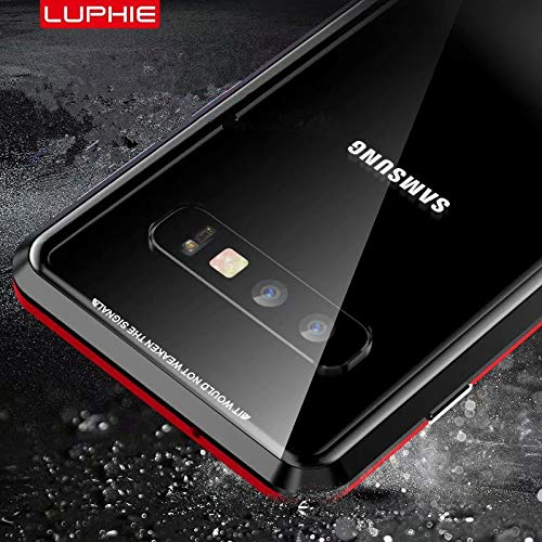 Galaxy S10 Case,Magnetic Adsorption Case Front and Back Clear Tempered Glass 360° Full Body Protection Flip Cover for Samsung Galaxy S10 (Black+Black, Samsung Galaxy S10) by IQIYEVOLEW (Image #7)