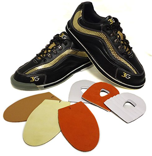 Hombre zapatos de bolos 3 G Sport Ultra de piel con suela de cambio de / - azada, color Negro, talla US 13 (45.5)
