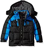 US Polo Association Big Boys' Bubble Jacket (More Styles Available), UB13-Black, 8