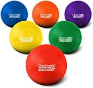 "GoSports Playground Balls for Kids (Heavy Duty Set of 6) with Carry Bag and Ball Pump (Choose 8.5"" or 10"" Size"