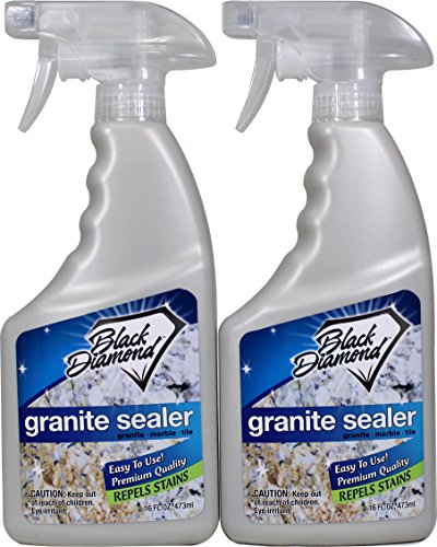 Granite Sealer- Natural Stone Penetrating Sealer: Seals & Protects; Granite, Marble, Travertine, Limestone and Grout. 16 oz By Black Diamond Stoneworks from Black Diamond Stoneworks