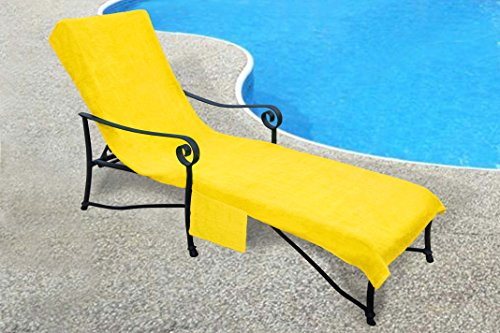 Pool side 1000 gram chaise cover pool lounge chair cover for Bahama towel chaise cover
