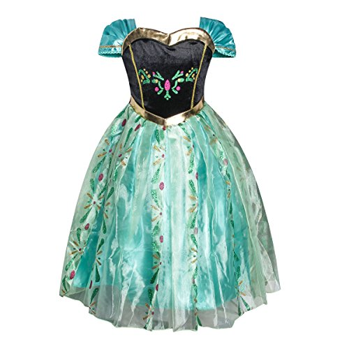 Anna Dress Up Costume (iFigure Girl's Summer Princess Dress up Costume Fancy Party Dress)