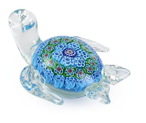 - Millefiori Art Glass Turtle Figurine Paperweight