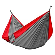 Amazon Lightning Deal 75% claimed: Lamoo Single Parachute Camping Hammocks by Yak Outfitters - Lightweight Nylon Compression backpacking Hammock, 100% SATISFACTION