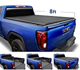 Tyger Auto TG-BC1C9010 Black 1 T1 Soft Roll Up Truck Bed Tonneau Cover for 1988-2007 Chevy Silverado/GMC Sierra 1500 2500 HD (07 Classic) 8' Bed TG-BC1C9010, 1 (Non-Carb Compliant)