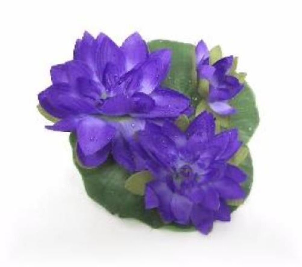Large Floating Silk Water Lily Purple Wedding Lilies Centerpiece Flowers