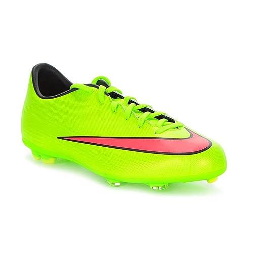 Nike Kids Mercurial Victory CR7 FG Junior Football Boots Green Hyper Blk UK  2 (34.5)  Amazon.co.uk  Shoes   Bags 02da46c1f