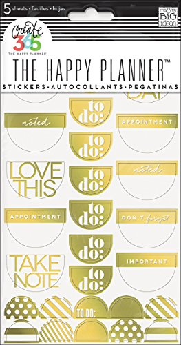 me & my BIG ideas Create 365 The Happy Planner Gold Foil
