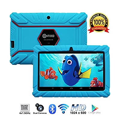 """Contixo Kids Tablet K2   7"""" Display Android 6.0 Bluetooth WiFi Camera Parental Control Children Infant Toddlers Includes Tablet Case"""