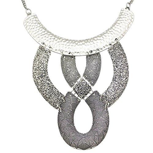 Q&Q Fashion Cleopatra Egyptian Revival Vintage Gold Knot Carved Snake Gypsy Bib Necklace