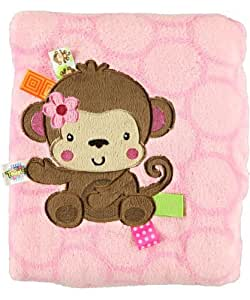 "Taggies ""Monkeyin' Around"" Plush Blanket - pink, one size"