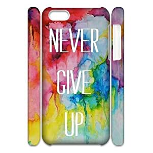 diy phone caseNever Give Up Cheap Custom 3D Cell Phone Case Cover for iphone 5/5s, Never Give Up iphone 5/5s 3D Casediy phone case