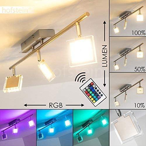 LED Decken-Lampe 4er Spot Strahler verstellbar Wohn-Raum Farbwechsel RGB Leuchte